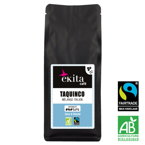 Café bio équitable en grains Taquinco 250g