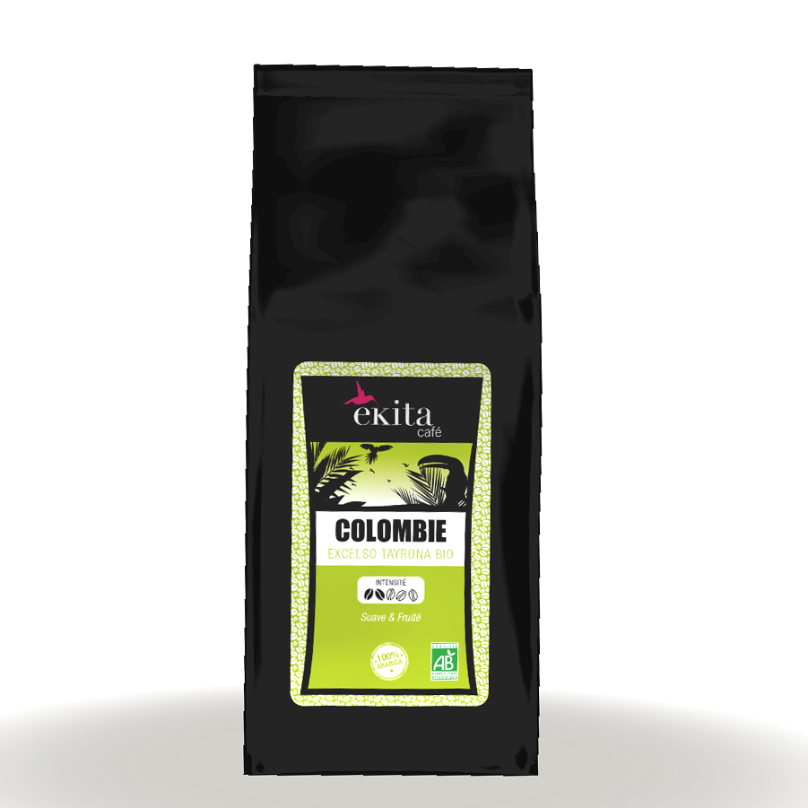 Café en grains arabica Colombie Excelso