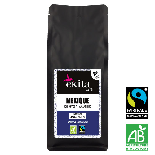 Café bio en grains Mexique Chiapas 250g