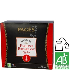 Thé noir bio Nature English Breakfast Pagès x 50 sachets