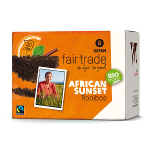Infusion bio (thé rouge) Rooibos African Sunset Oxfam x 20 sachets