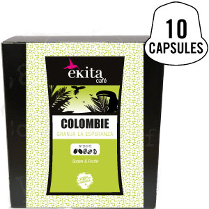Capsules compatibles Nespresso® Colombie x 10 (phase 1)