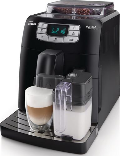 Saeco intelia hd8753 11 cappuccino black machine automatique - Machine a cafe a grain saeco ...