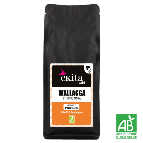 Café bio en grains Ethiopie Moka Wallaga 250g
