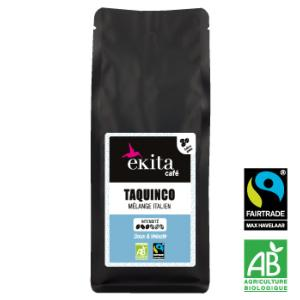 Café en grains arabica bio équitable Taquinco 250g